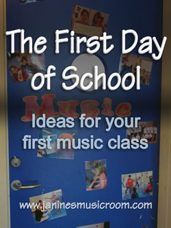 Ideas for your first music class, first day of school