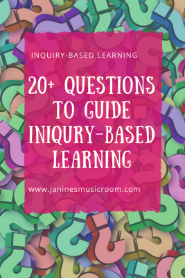 Over 20 questions to guide you through your planning inquiry-based learning