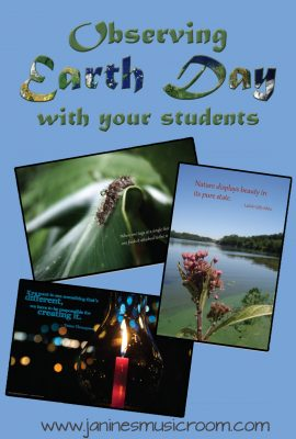 Ideas for celebrating Earth Day with your students: Music, Language Arts, Social Studies, or any subject!