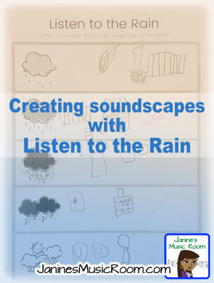 creating soundscapes composing JaninesMusicRoom music lesson plan instruments early childhood